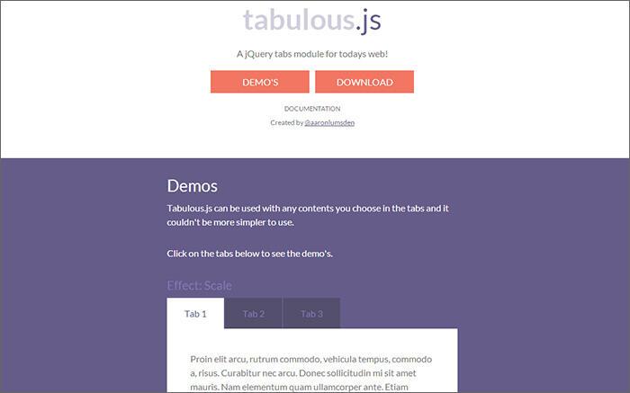tabulous.js