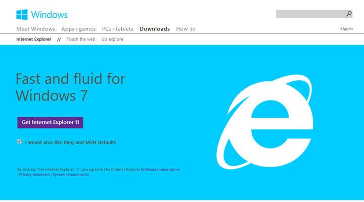 Download Web Browser - Internet Explorer